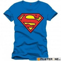 SUPERMAN - T-Shirt Blue Classic Logo (M) 136748  T-Shirts
