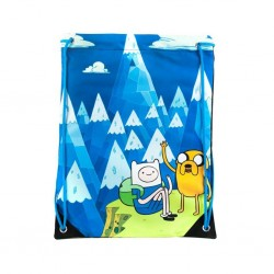 ADVENTURE TIME - Gym Bag Jake and Finn Blue Mountain
