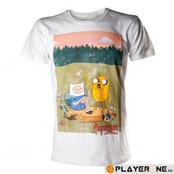 ADVENTURE TIME - T-Shirt Finn and Jake wit (XL)