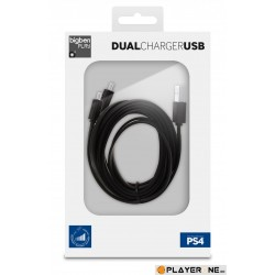 Double Charging USB Cable PS4 (BigBen) 136407  PS4 Kabels & USB