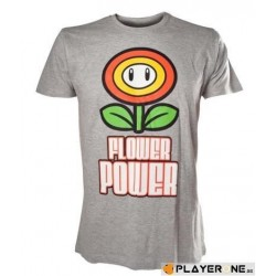 NINTENDO - T-Shirt Super Mario : Flower Power Grey (L) 136336  T-Shirts Mario