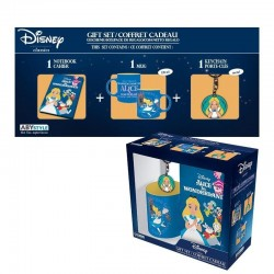 DISNEY - Gift Box (Mug+Keyring+Mini Notebook) - Alice