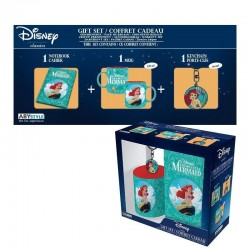 DISNEY - Gift Box (Beker+Sleutelhanger+Mini Notitieboek) - Ariel