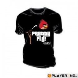 ANGRY BIRDS - T-Shirt Pretty Fly Black (XL) 133520  T-Shirts
