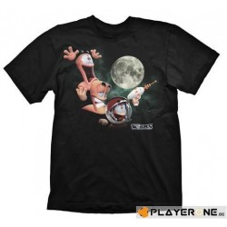 WORMS - T-Shirt Three Worms Moon Black (XL) 132605  T-Shirts Worms