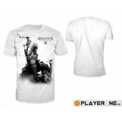 ASSASSINS CREED 3 - T-Shirt wit - Connor Smash (S)