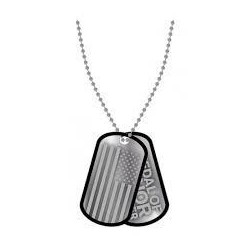 MEDAL OF HONOR WARFIGHTER - Dog Tags Flag and Logo 131451  Dogtags