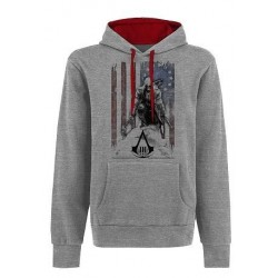 ASSASSIN'S CREED 3 - Sweatshirt - Flag and Connor Grey (S) 131419  Sweatshirts