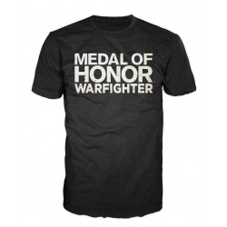 MEDAL OF HONOR WARFIGHTER - T-Shirt Black - LOGO (M) 131405  T Shirts alles