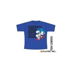 SONIC - T-Shirt Mega Drive to Go Fast Blue ( 176/182 ) 131313  T-Shirts Sonic