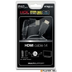 HDMI Cable 3D 1.4 With Rotative Head ( Multi ) 2.5 m