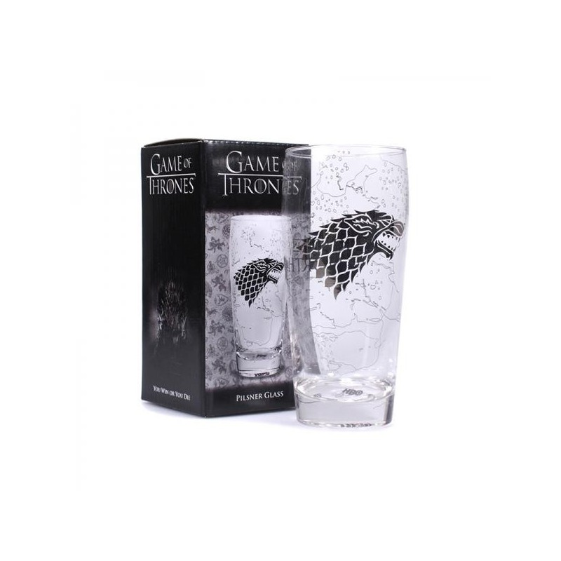 GAME OF THRONES - Pilsner Glas - King in the North
