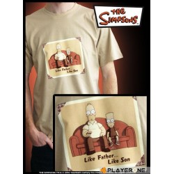 SIMPSONS - T-Shirt beige homme Like Father Like Son (S) 126647  T-Shirts The Simpsons