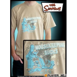 SIMPSONS - T-Shirt beige homme Housekeeping Sucks (S) 126643  T-Shirts The Simpsons