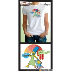 SIMPSONS - T-Shirt blanc femme Marge under appreciated (XL) 126638  Alles