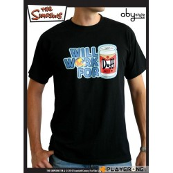 SIMPSONS - T-Shirt Men black Duff (S) 126631  T-Shirts Mannen