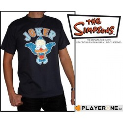 SIMPSONS - T-Shirt Men Dark Grey Krusty Joker (S) 126616  T-Shirts Mannen