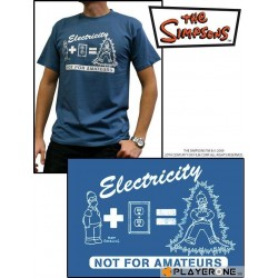 SIMPSONS - T-Shirt Men bleu Stone Electricity (L) 126607  T-Shirts Mannen