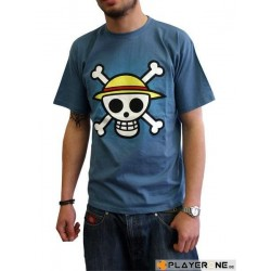 ONE PIECE - T-Shirt Basic Man BLUE Skull With Map (S) 126587  T-Shirts