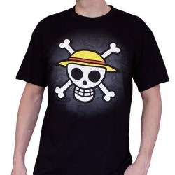 ONE PIECE - T-Shirt Basic Man Skull With Map (L) 126568  T-Shirts One Piece