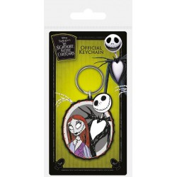 NIGHTMARE BEFORE CHRISTMAS - Rubber Keychain - Jack & Sally 168363  Sleutelhangers