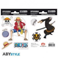 ONE PIECE - Stickers - 16x11cm / 2 Sheets - Luffy & Law