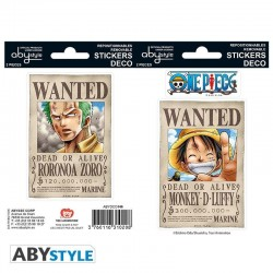 ONE PIECE - Stickers - 16x11cm / 2 Sheets - Wanted Luffy & Zoro