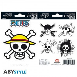 ONE PIECE - Stickers - 16x11cm / 2 Sheets - Pirates Flag 171821  Stickers