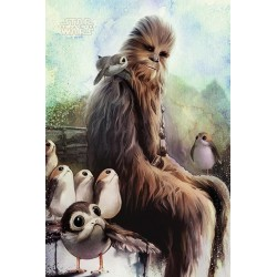 STAR WARS - Poster 61X91 - Chewbacca & Porgs 171891  Posters