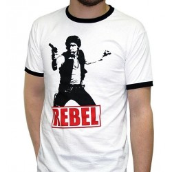 STAR WARS - T-Shirt Han Solo Rebel - wit (XXL)