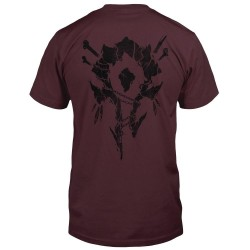 WORLD OF WARCRAFT- T-Shirt Horde Bones Crest (S) 172699  T-shirts World of Warcraft