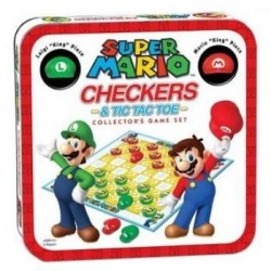 NINTENDO - Combo Checkers / Tic Tac Toe Metal Box S. Mario 'UK Only' 173243  Schaak Borden