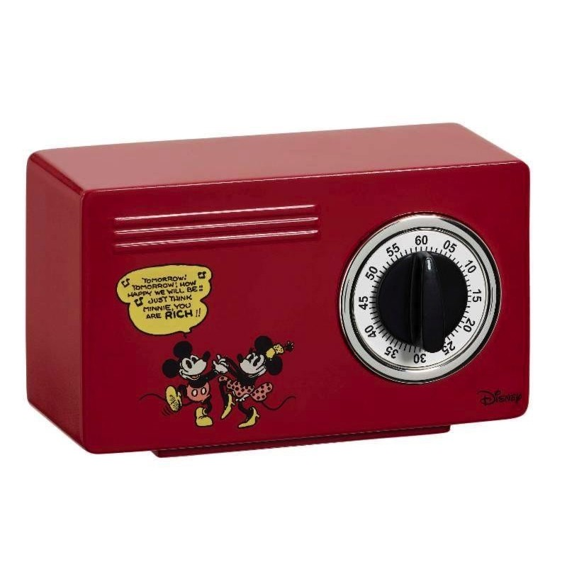 DISNEY - Red Mickey and Minnie Kitchen Timer 167850  Keuken Timer