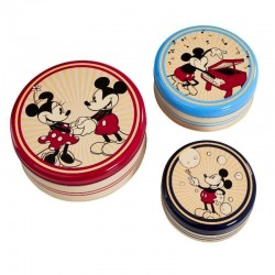 DISNEY - Round Retro Kitchen Storage 3 Piece Set 167849  Keuken Opberg Boxen