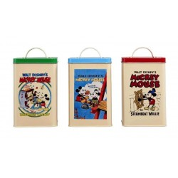 DISNEY - Retro Posters Kitchen Storage 3 Piece Set 167848  Keuken Opberg Boxen