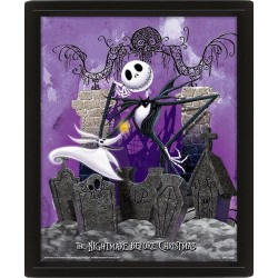 NIGHTMARE BEFORE CHRISTMAS - 3D Lenticular Poster 26X20 - Graveyard 174189  Lenticular Posters