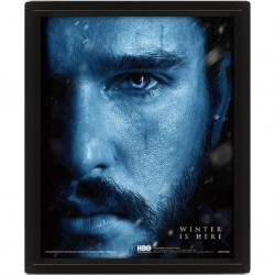 GAME OF THRONES - 3D Lenticular Poster 26X20 - Snow vs Night King 174197  Lenticular Posters