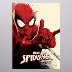 SPIDERMAN GEEK - Magnetische Metalen Poster 31x21 - Peter Parker