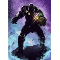 MARVEL DARK EDITION - Magnetic Metal Poster 45x32 - Thanos 174536  Magnetische Posters