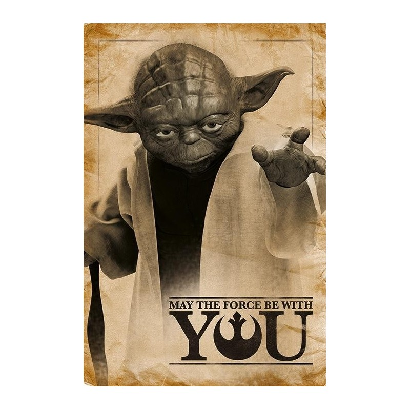 STAR WARS - Poster 61X91 - Yoda May the Force be with You 167776  Allerlei