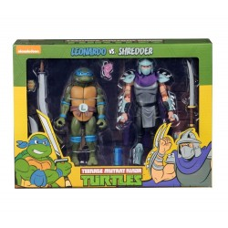 TMNT - Action Figure - Leonardo VS Shredder - 18cm 174596  TMNT Teenage Mutant Ninja Turtles