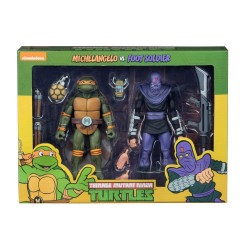 TMNT - Action Figure - Michelangelo VS Foot Soldier - 18cm 174598  TMNT Teenage Mutant Ninja Turtles