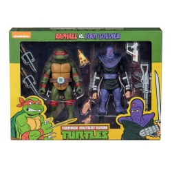 TMNT - Action Figure - Raphael VS Foot Soldier - 18cm 174599  TMNT Teenage Mutant Ninja Turtles