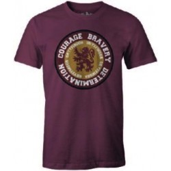 HARRY POTTER - T-Shirt Gryffindor ROUND Courage Bravery ... (S) 174968  T-Shirts Harry Potter