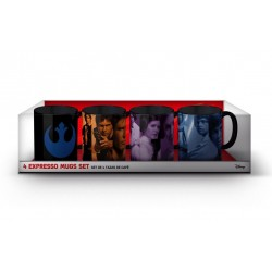 STAR WARS VIII - Set van 4 Espresso Bekers (Rebel)