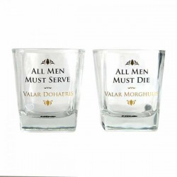 GAME OF THRONES - Whiskey glazen Set van 2 - All Men Must Die 175300  Gundam
