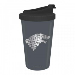 GAME OF THRONES - Koffiebeker to go Metal - Stark  Winter is Coming