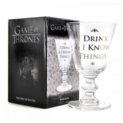 GAME OF THRONES - Wijn Glas 275 ml - I Drink & I Know Things