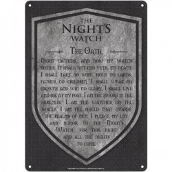 GAME OF THRONES - Tin Sign 21 X 15 - Night's Watch 175333  Nieuwe imports