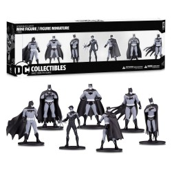 BATMAN - Black & White Pack 7 Figures PVC Box Set 1 - 10cm 175524  Batman